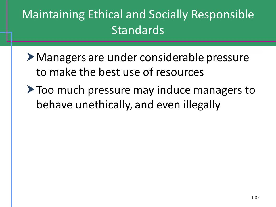Maintaining Ethical and Socially Responsible Standards