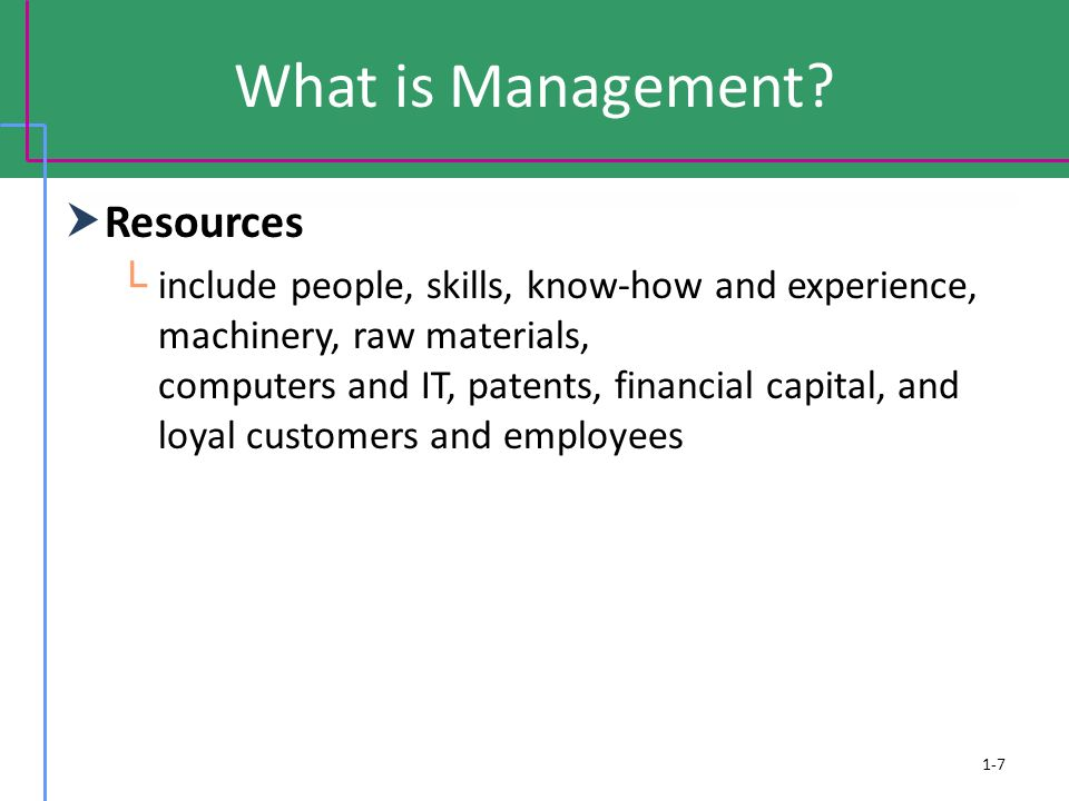 What is Management Resources