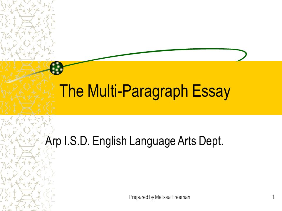 The Multi-Paragraph Essay