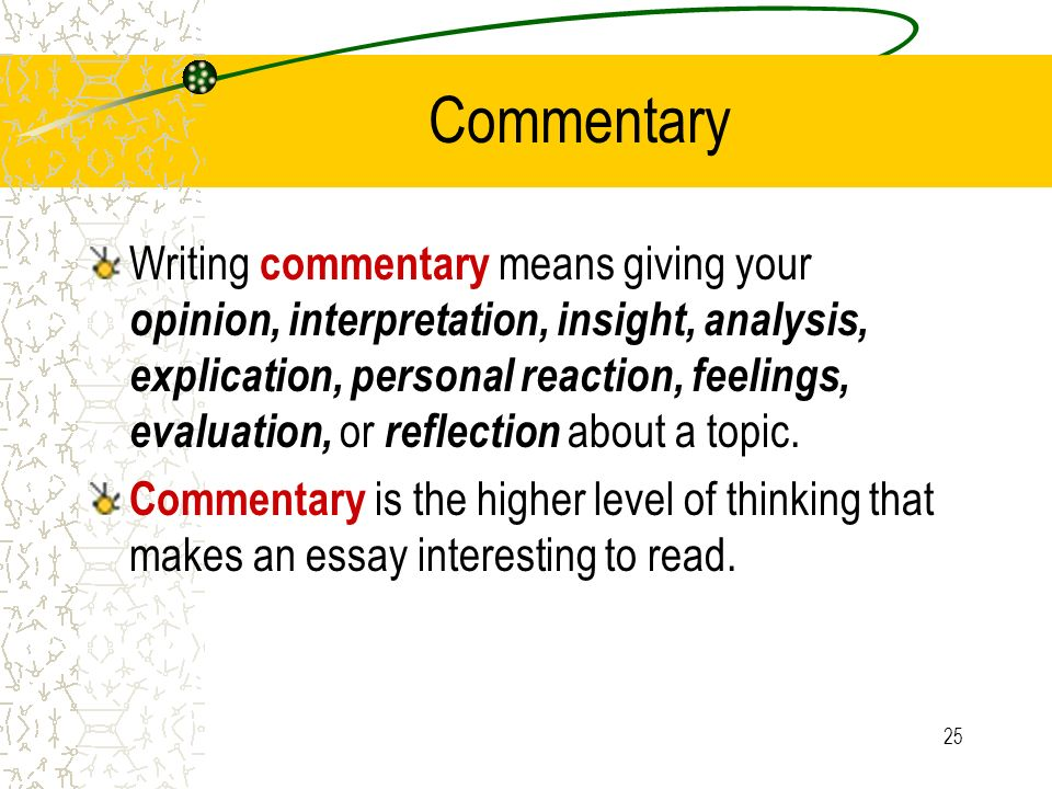 the multi paragraph essay ppt video online commentary