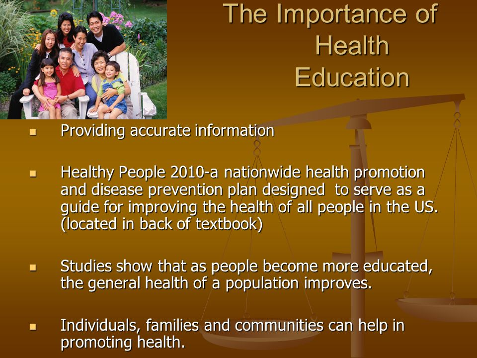 Information on importance of education