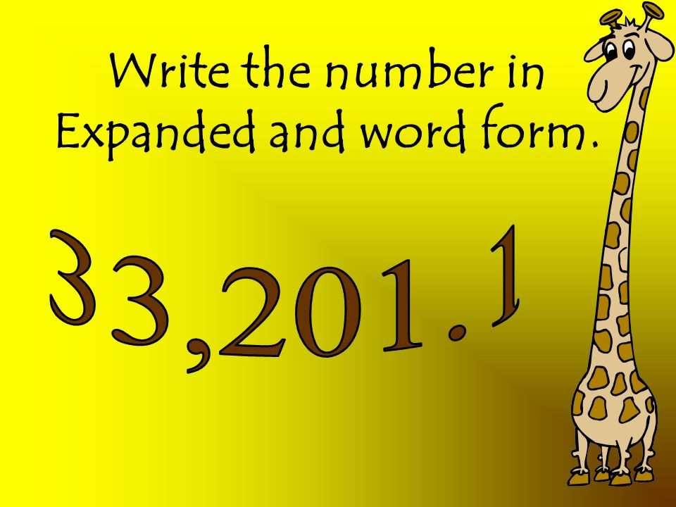 how to write numbers in expanded word form