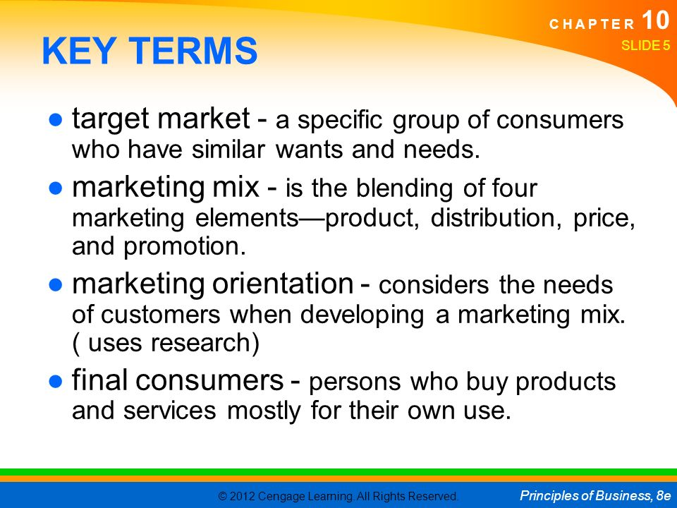 "Target Market or ""Who is the customer?"""