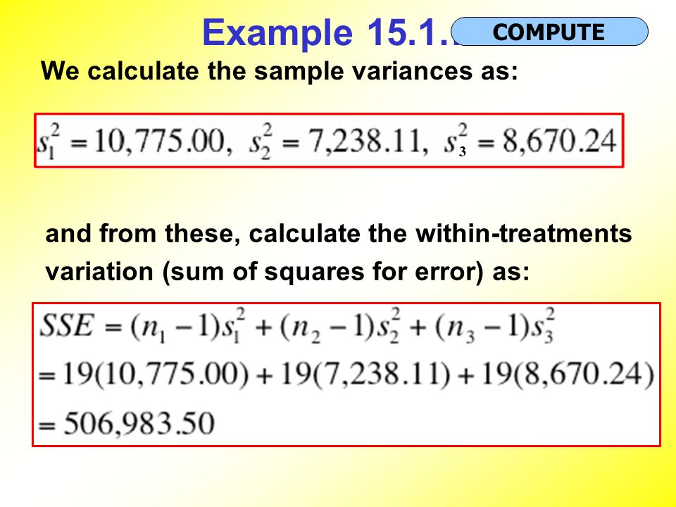 how to find sample variance