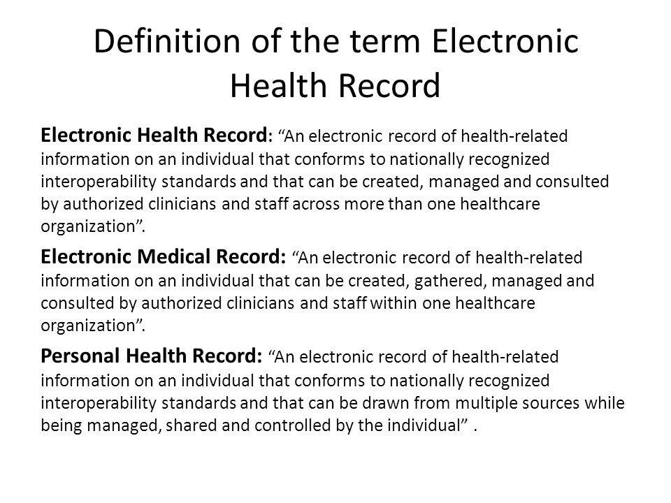 Image Result For Electronic Health Record Definition