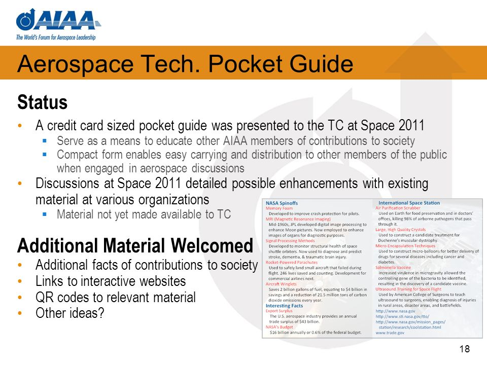 Aerospace Tech. Pocket Guide