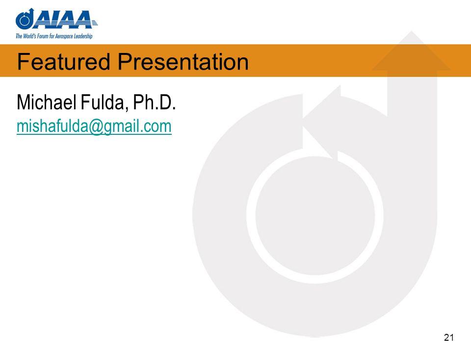 Featured Presentation