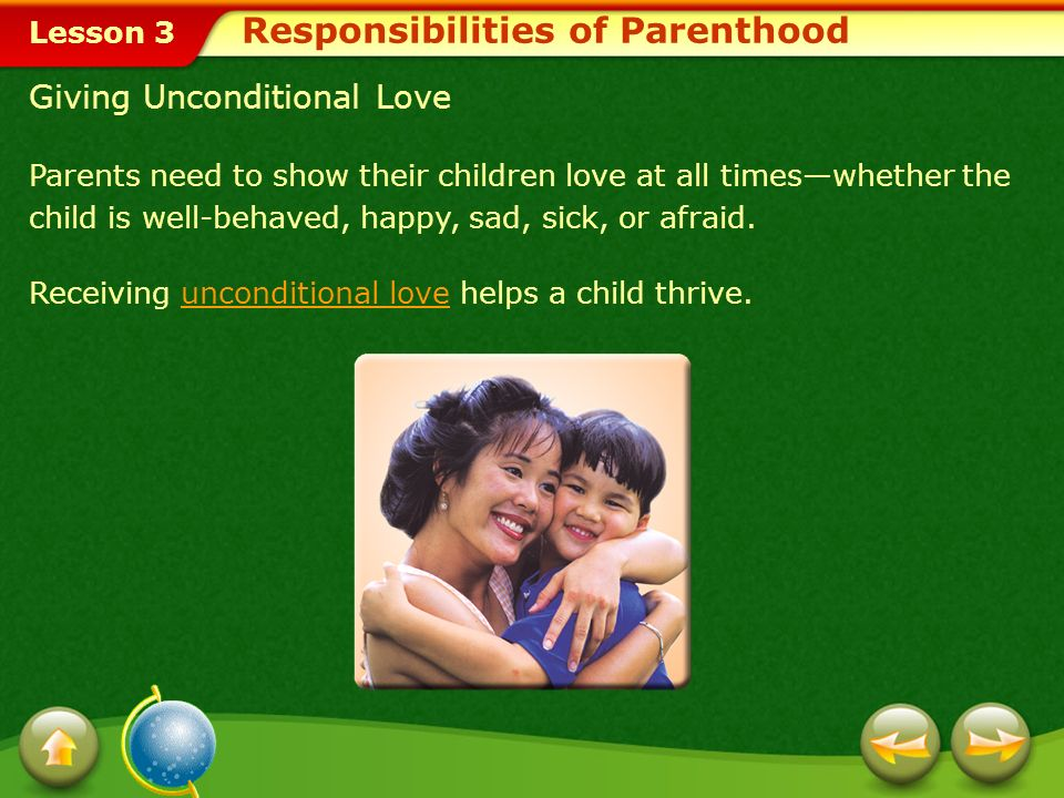 Responsibilities of Parenthood