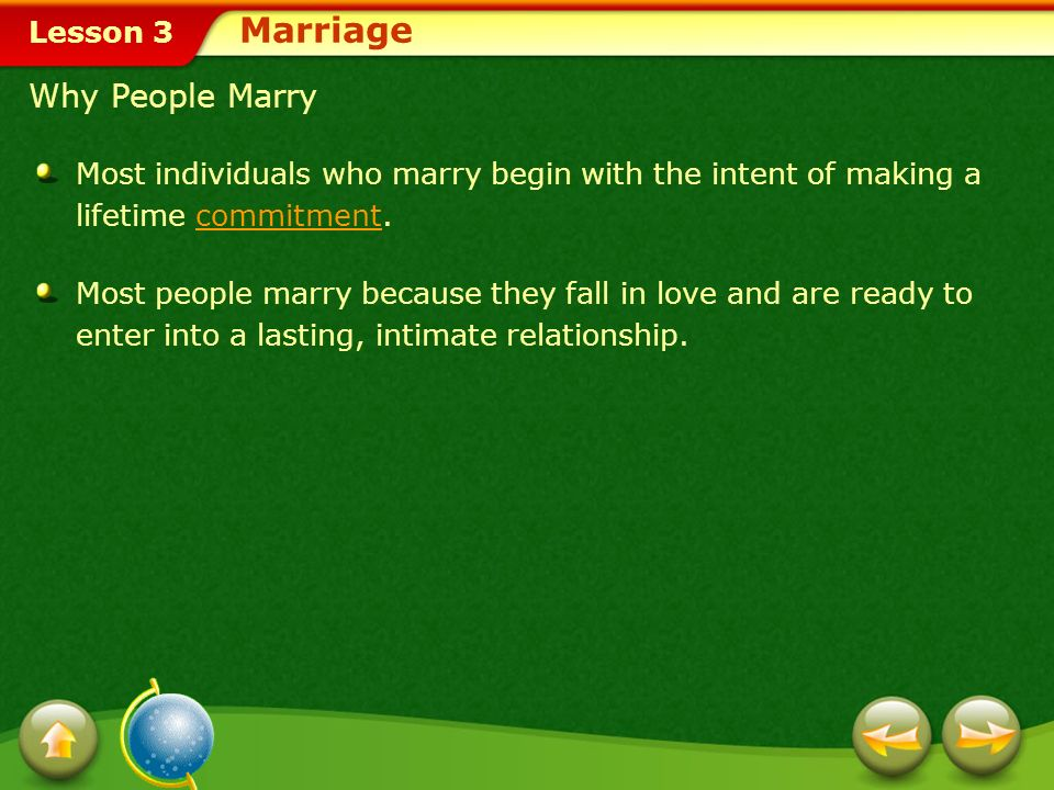 Marriage Why People Marry