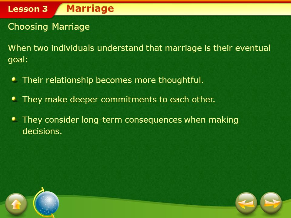 Marriage Choosing Marriage