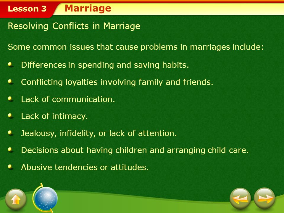Marriage Resolving Conflicts in Marriage