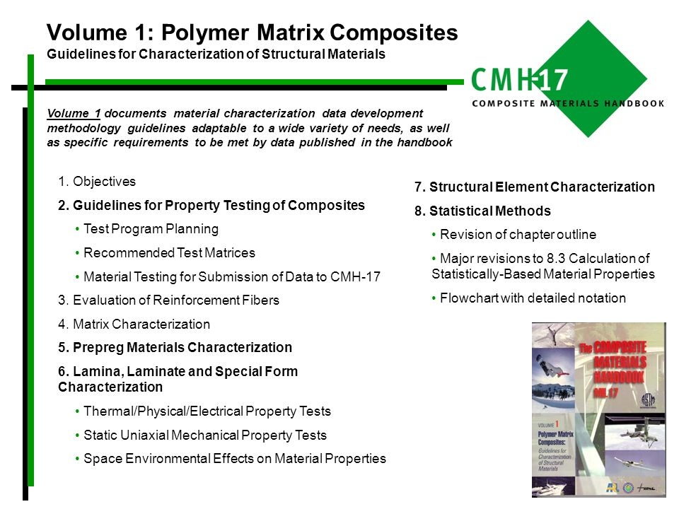 Volume 1: Polymer Matrix Composites Guidelines for Characterization of Structural Materials