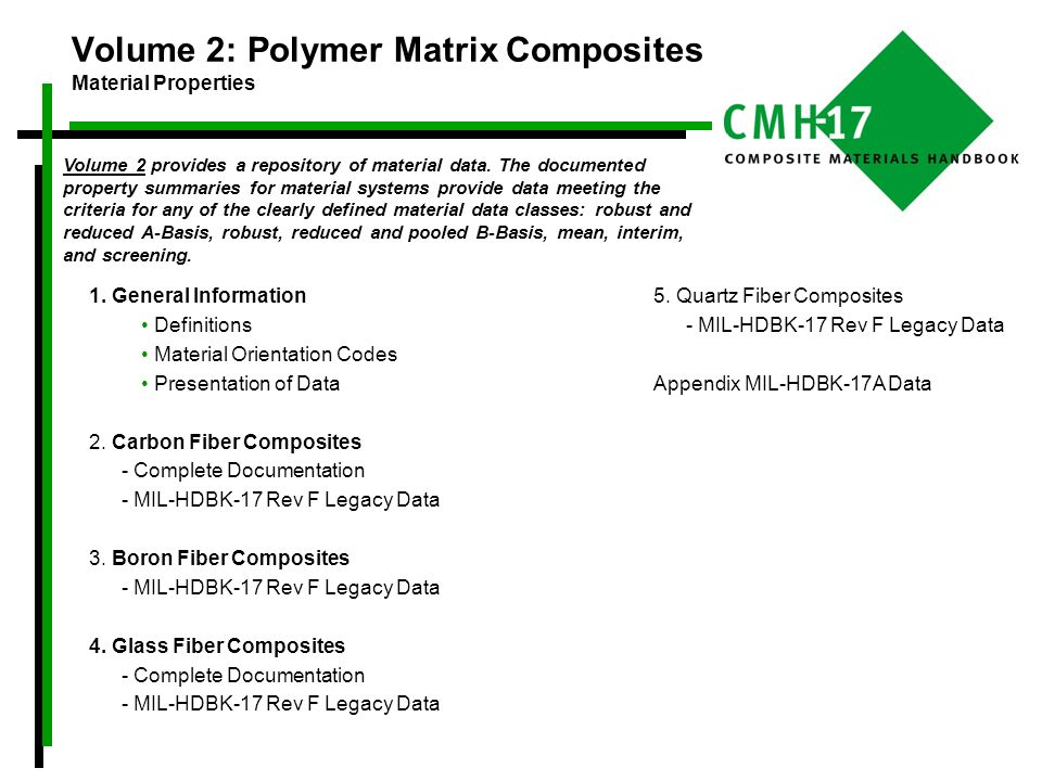 Volume 2: Polymer Matrix Composites Material Properties