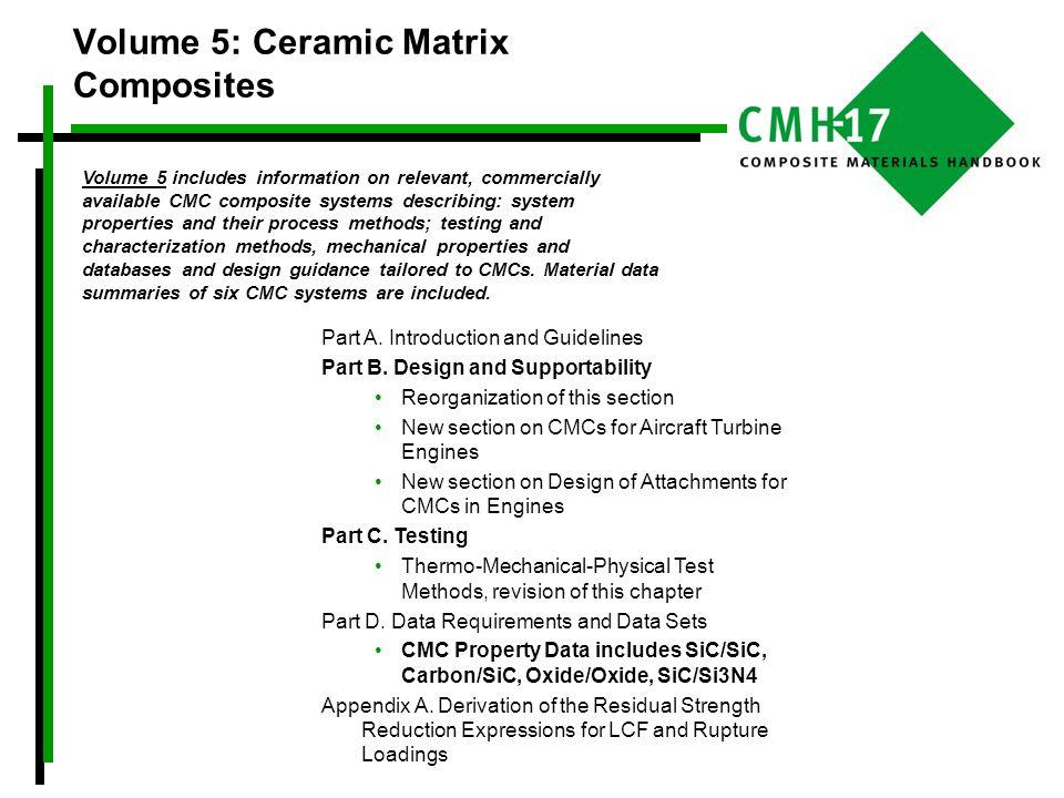 Volume 5: Ceramic Matrix Composites