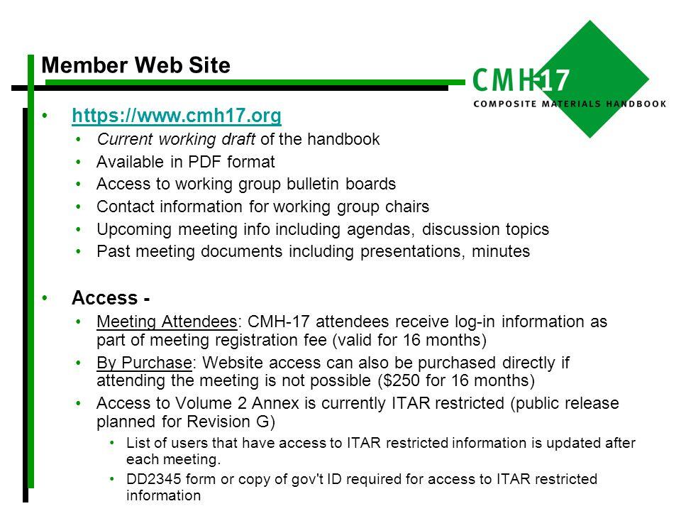 Member Web Site https://www.cmh17.org Access -