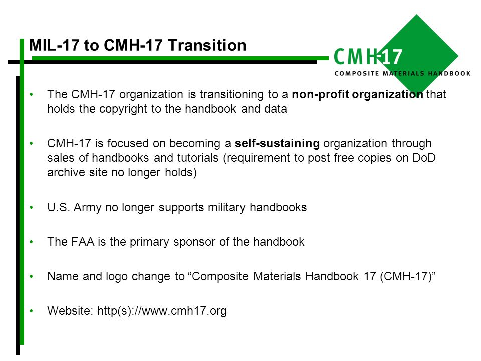 MIL-17 to CMH-17 Transition