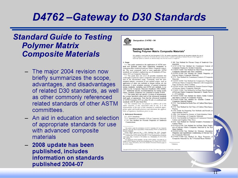 D4762 –Gateway to D30 Standards