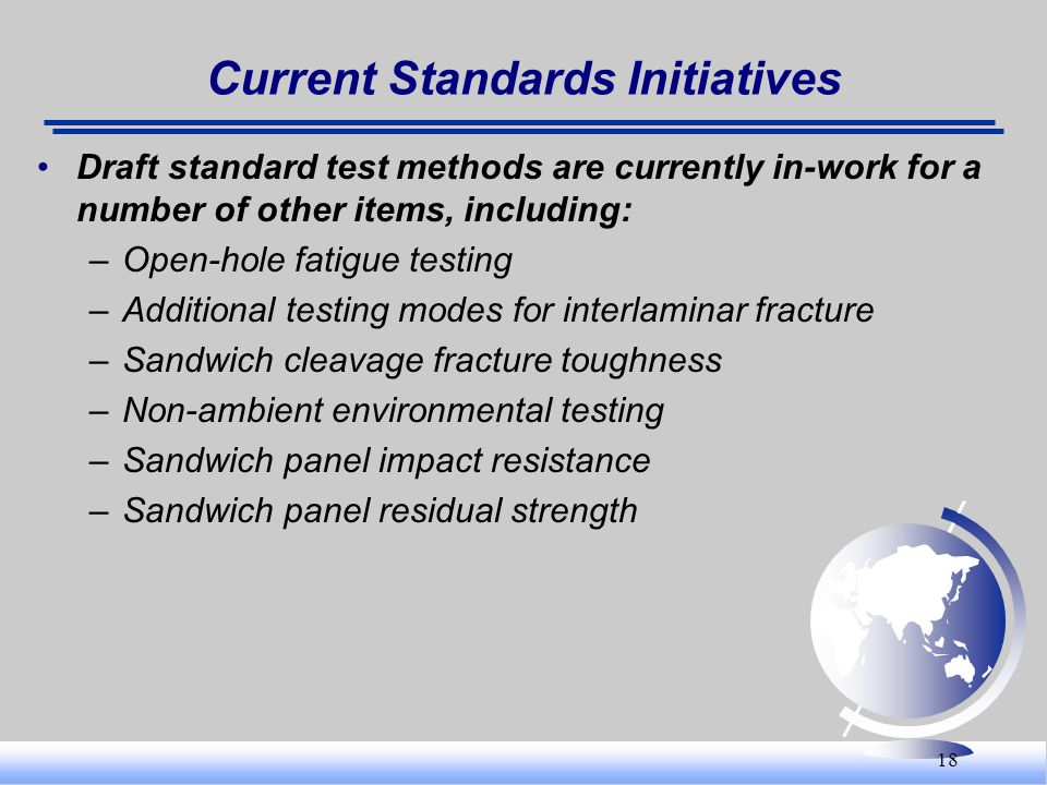 Current Standards Initiatives