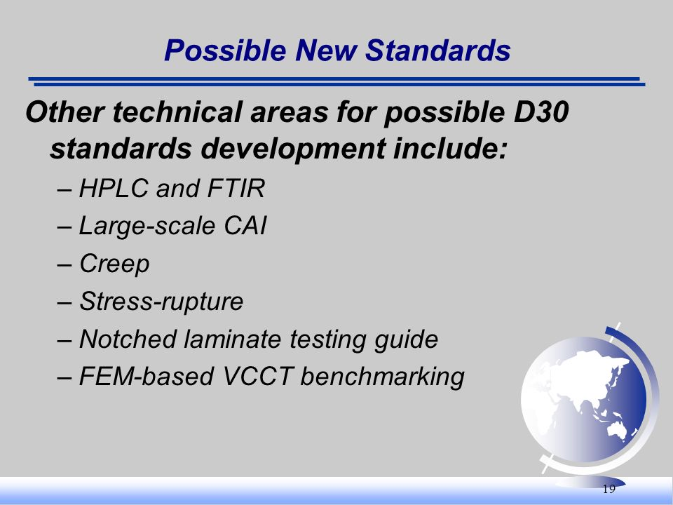 Possible New Standards