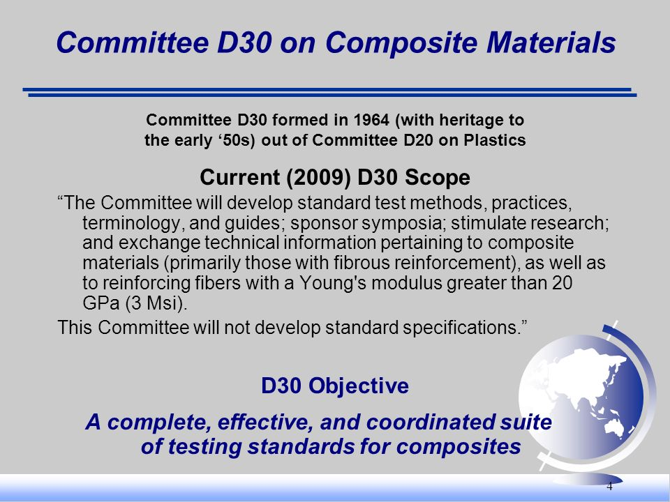 Committee D30 on Composite Materials