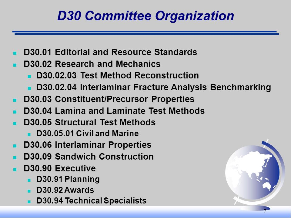 D30 Committee Organization