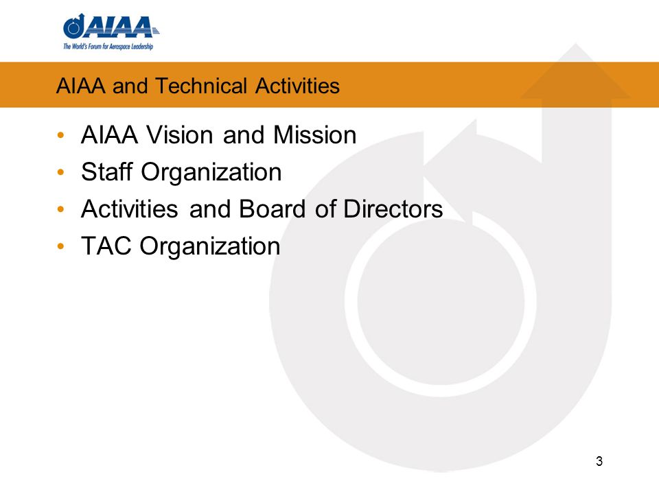 AIAA and Technical Activities