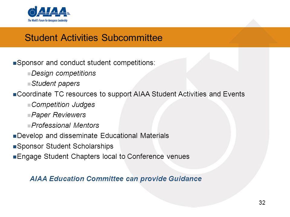 Student Activities Subcommittee