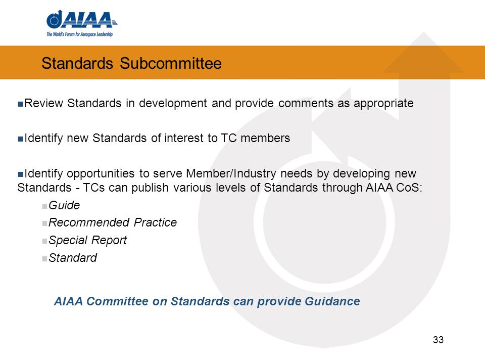 Standards Subcommittee