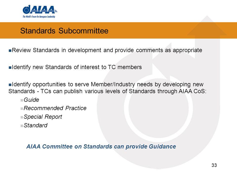 Standards Subcommittee