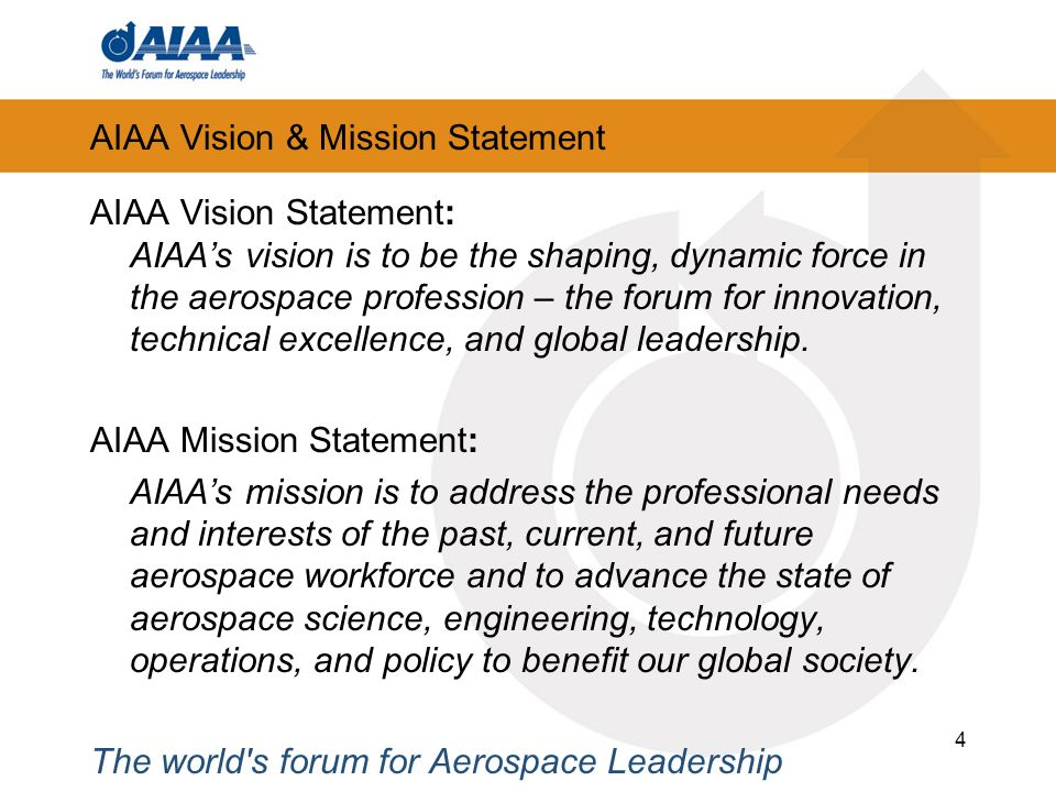 AIAA Vision & Mission Statement