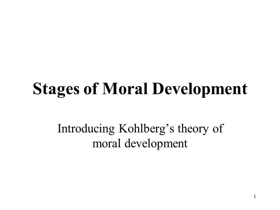 kohlberg s theory on moral development new University of notre dame he was particularly well-known for his theory of moral development which he the last comment refers to kohlberg's moral.