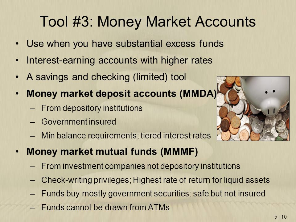 Tool #3: Money Market Accounts