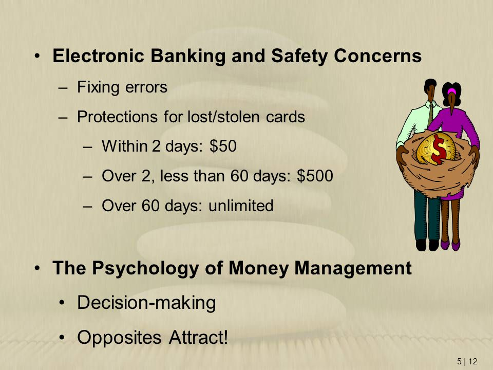 Electronic Banking and Safety Concerns