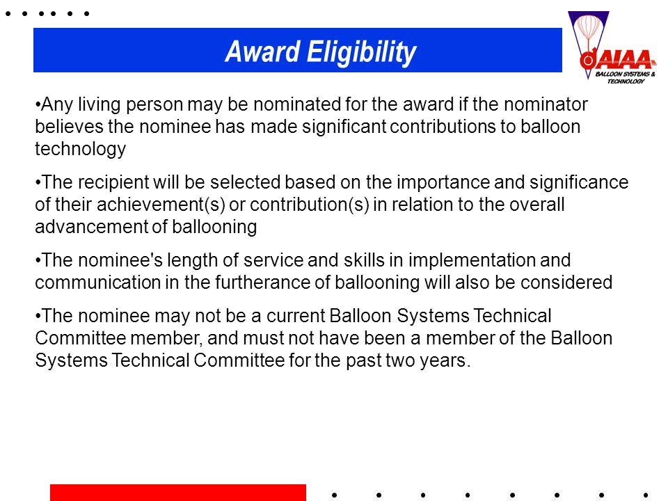 Award Eligibility