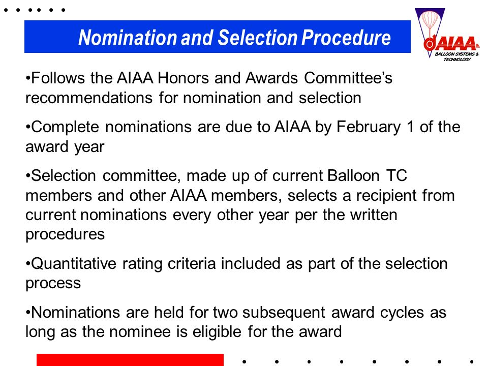 Nomination and Selection Procedure