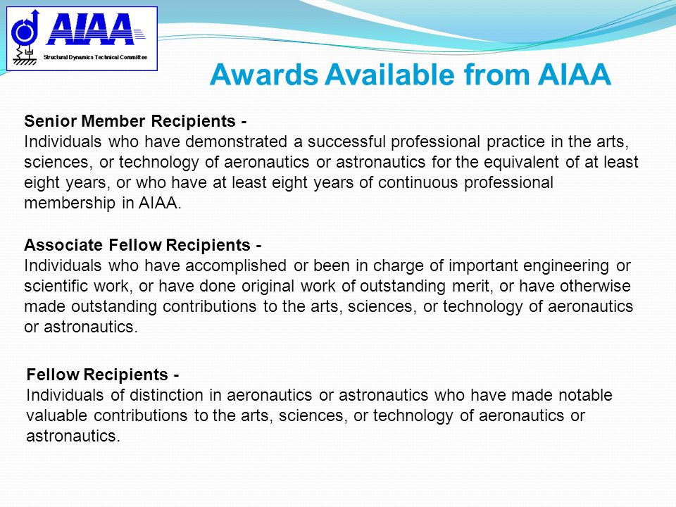 Awards Available from AIAA