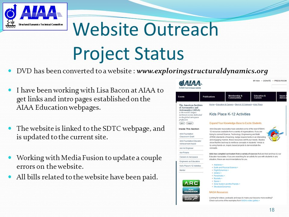 Website Outreach Project Status