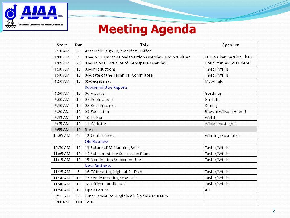 Attachment 1 Meeting Agenda