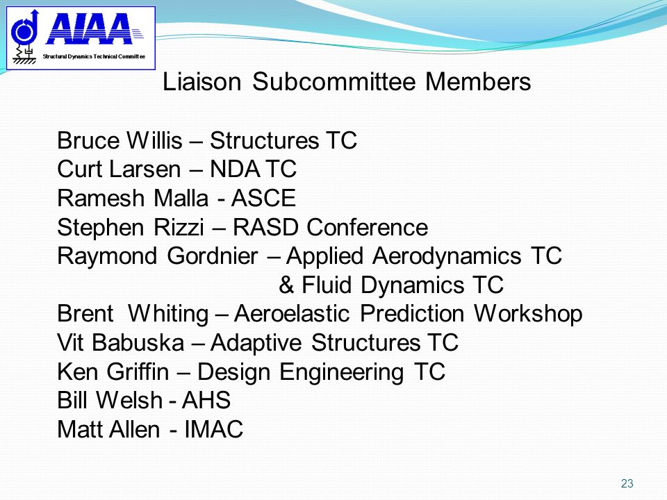 Liaison Subcommittee Members
