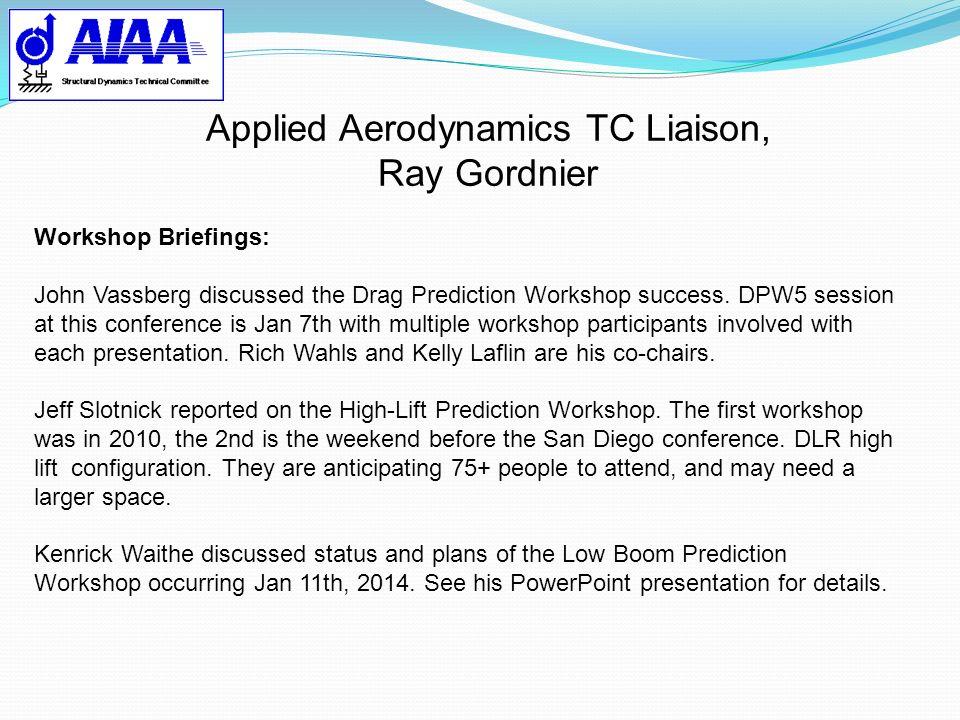 Applied Aerodynamics TC Liaison,