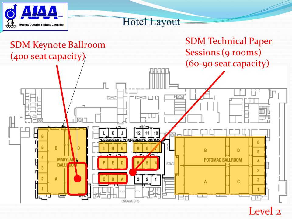 Hotel Layout Level 2 SDM Technical Paper Sessions (9 rooms)