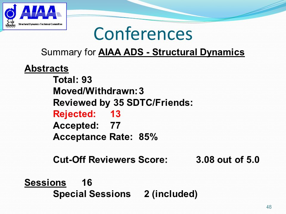 Summary for AIAA ADS - Structural Dynamics