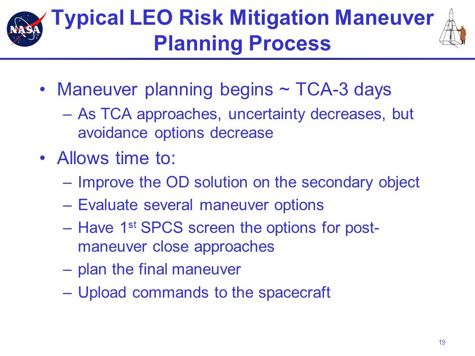 Typical LEO Risk Mitigation Maneuver Planning Process