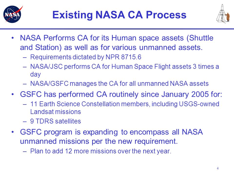 Existing NASA CA Process