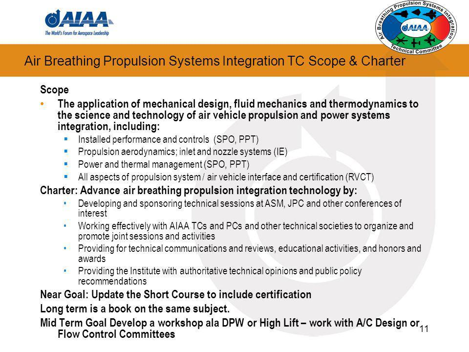 Air Breathing Propulsion Systems Integration TC Scope & Charter