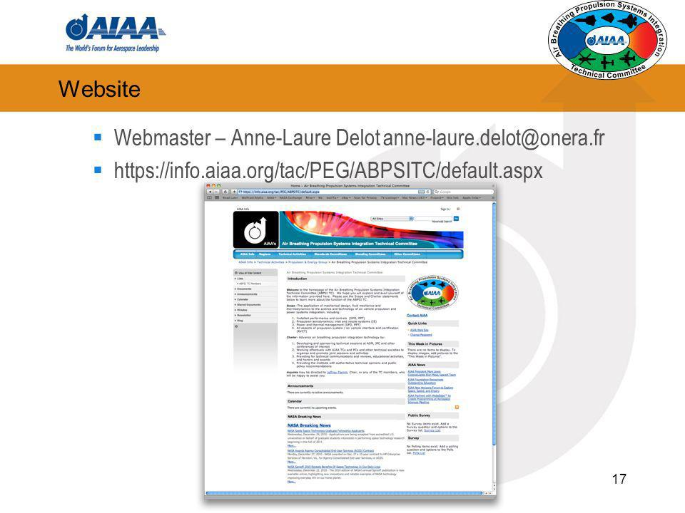 Website Webmaster – Anne-Laure Delot anne-laure.delot@onera.fr.