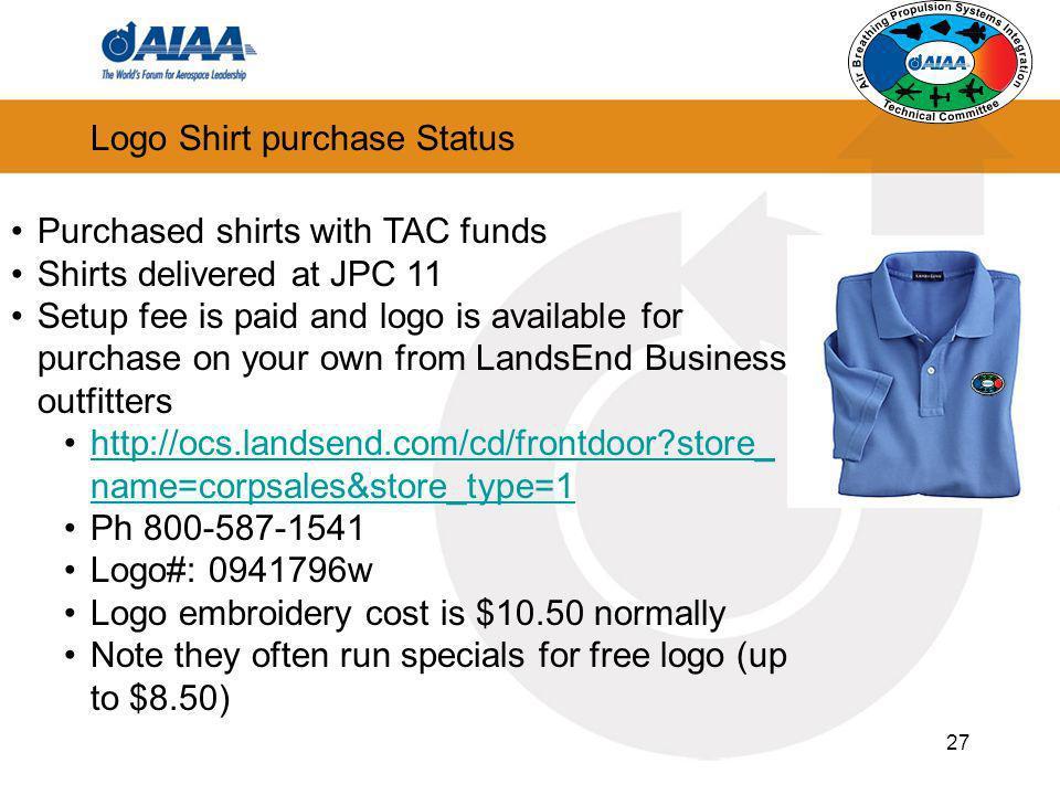 Logo Shirt purchase Status