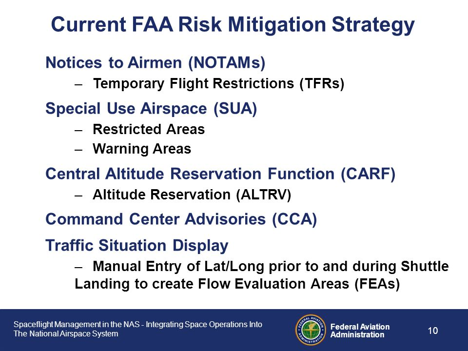 Current FAA Risk Mitigation Strategy