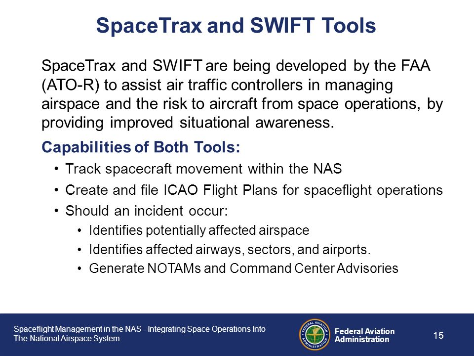 SpaceTrax and SWIFT Tools