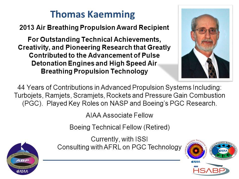 2013 Air Breathing Propulsion Award Recipient